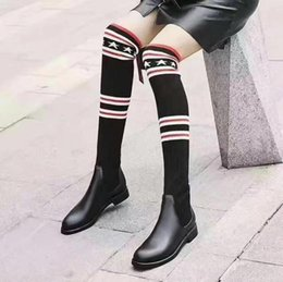 Europe and the United States trend women new round of rough winter with big sexy thigh boots with fashionista boots finishline for sale Ddg9sKL
