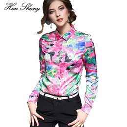 $enCountryForm.capitalKeyWord Canada - Fashion Women Spring Autumn Long Sleeve Shirts Colorful Floral Print Chiffon Blouse Women Clothing Ladies Office Formal Shirts