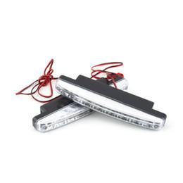 Led strobe headLights online shopping - 1 Pair LED Daytime Running Lights Super Bright DRL Light Bar Parking Fog Strobe Lamp V DC Headlight Universal