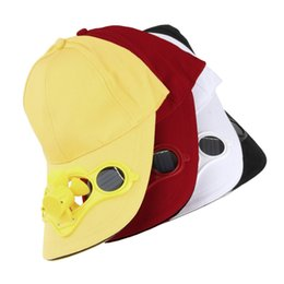 solar cooling fan Canada - Wholesale-Sun Solar Power Hat Cap with Cooling Fan for Outdoor Golf BaseballSale Wholesale
