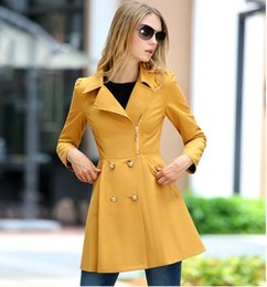 $enCountryForm.capitalKeyWord Canada - Spring Autumn Women Fashion Long Sleeve Double-Breasted Trench Coats Ladies Elegant Polo Collar Windbreaker Girls Slim Mid-Length Dust Coats