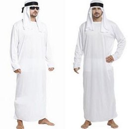 Barato Trajes Sexy-Atacado-Best Seller Sexy Costumes Homens Trajes brancos Sexy Halloween Sexy Deguisement Adultes Cosplay Arab King Costumes CE258