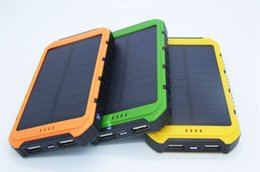 Laptop Cellphone NZ - New 20000mah Solar Charger Panel Solar Power Bank Shockproof mobile solar phone charger Flashlight for CellPhone Laptop