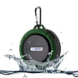 $enCountryForm.capitalKeyWord Canada - 10PCS New Fashion Portable Waterproof Outdoor Wireless Bluetooth Speaker C6 Sucting Computer Mobile Phone Speaker Support TF Card