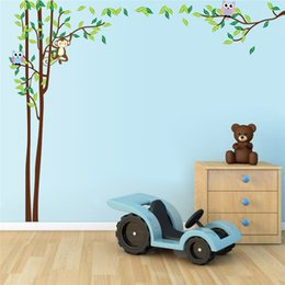 New Creative DIY Wall Sticker Horse For Kids Room Carved Removable  Kindergarten Stickers Monkey Big Tree Owl Pvc Decorating 2017 Wholesale