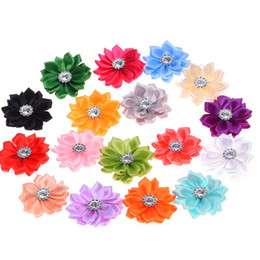 Hair ribbons flowers small online shopping - Mini Ribbon Flowers sharp corner Ribbon flower Wedding decoration Small Hair Flowers No Hair clips