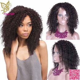 $enCountryForm.capitalKeyWord Canada - Afro Kinky Curly Full Lace Human Hair Wigs Brazilian Human Hair Lace Friont Wig Curly With Bleached Knots Baby Hair