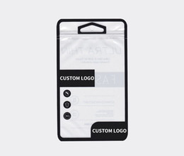 Custom pC Cases online shopping - 100 Custom Packaging Bags Retail Phone Case Ziplock Glossy Package Bag for Phone Cover Case for iPhone Plus Samsung note8