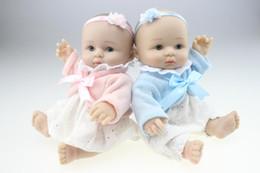 $enCountryForm.capitalKeyWord Canada - Collectible Fashion Full Silicone Reborn Baby Doll Realistic Doll Fashion Baby Mini Finished Doll for Baby Christmas and Birthday Gift