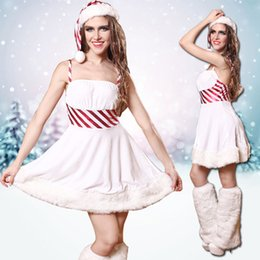Costume Sexy Santa Pour Femme Pas Cher-Vente en gros-Robe de Noël Nouveau Sexy Costumes Cosplay Backless Femmes Party Fancy Adult Xmas Sexy Cosplay Costumes de Noël Santa