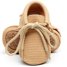 Hard Sole Baby Shoes Wholesale Canada - 2017 New genuine Leather Baby Moccasins Shoes hard rubber sole leopard lace up Baby boys boots Shoes Newborn first walker Infant Shoes
