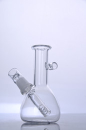 Chinese  Mini Glass bong handle pipe diffused downstem oil rig with dome and nail 14 mm joint manufacturers