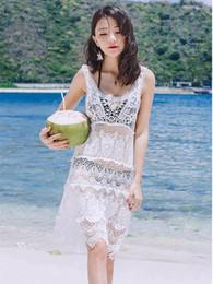 $enCountryForm.capitalKeyWord NZ - Beach bikini cover ups swimwear women summer sleeve lace embroidery dresses crochet hollow out blouse sexy holiday Swimsuit sunscreen shirt