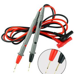 20 пар Мульти метр тестер Lead зонд Pin для цифрового мультиметра кончик иглы метра провод Pen кабель 10A на Распродаже