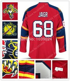 016 nre brand newest florida panthers 68 jaromir jagr jersey red team color new jagr panthers hockey jersey drop shipping top quality affordable jaromir