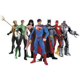 $enCountryForm.capitalKeyWord UK - Hot NEW 7pcs set 17cm Justice League Super Hero Avengers Ant-Man Spider-man Superman Batman Action Figure toys doll sets Kids Gifts LA531