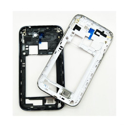 middle frames housing NZ - 5PCS Original Middle Frame Housing Bezel For Samsung Galaxy Note 2 N7100 Middle Plate Rear Housing+side buttons Replacement