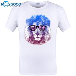 883bf31e 2017 Newest Fashion Cool Crown Lion King Printed T-Shirt Summer Trendy Mens Hip  Hop Short Sleeve Tee Tops Clothing Plus Size