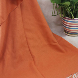 $enCountryForm.capitalKeyWord NZ - New soft cashmere scarf ladies shawl wrapped woman 70X200CM cashmere 100% oversized four-layer fashion Plain Orange 36063