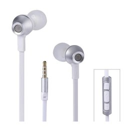 Rm Iphone Canada - REMAX RM 610D 3.5mm Plug Earphone In-Line Control Stereo Headsets In Ear Earphone Headset with Microphone for Smart Phone