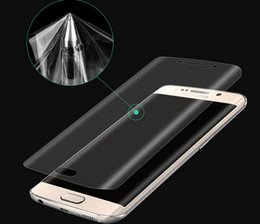 $enCountryForm.capitalKeyWord NZ - Curved TPU clear PTE Full cover Film screen protector for Samsung Galaxy S7 S7 Edge S6 Edge Plus with box