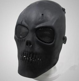 Protective face mask skull online shopping - Home Festive Airsoft Mask Skull Full Protective Mask Military Festive Party Supplies Party Masks