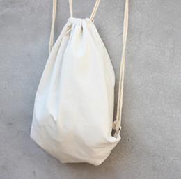 $enCountryForm.capitalKeyWord Canada - white Canvas drawstring backpack blank plain organizer Rucksack Travel sports phone Bags handbag for men women kids DIY Gift crafts bags