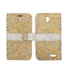 $enCountryForm.capitalKeyWord Canada - Hybrid Bling Rhinestone Diamond Luxury Flip Stand Wallet Cover Case for ZTE Avid 4 Blade X Z965 Grand X3 ZMAX 2 Z958 Axon Pro N9518