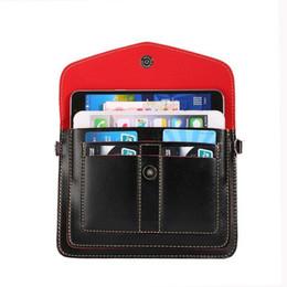 Handbag for ipHone mini online shopping - Universal PU Wallet Phone Cases for iPhone for iPhone Credit Card Holder Phone Bags Satchel Mini Crossbody Shoulder Bag