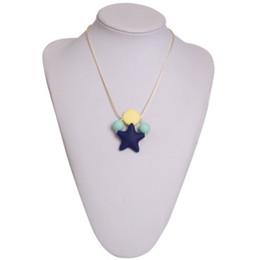 mum pendants 2019 - Silicone Teething Pendant 100% FDA Grade Silicone Sensory Starlight Designer Chewable Powerful Pendant Necklace for Mum