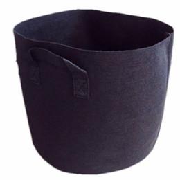 10 Gallon Black Hand With Planting Flowers Nonwoven Bags 10 pezzo un sacco in Offerta