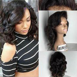 $enCountryForm.capitalKeyWord Australia - Quality Short Curly Lace Front Human Hair Wigs Glueless Full Lace Wigs Brazillian Human Hair Wigs For Africa Americans