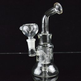 """Chinese  Glass Bongs Water Pipes Fixed Diffuse Swiss Perc Bubbler Recycler Oil Rigs 7"""" inch Bent Neck Thick Dab Hookahs Cone Base Beaker Bong manufacturers"""