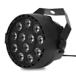 Wholesale Portable Mini LED Stage Lights 18 RGB PAR LED DMX Stage Lighting Effect Projector DMX512 Led Flat Dj Disco KTV Party Lighting