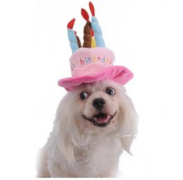 Caps For Dogs Pet Cat Dog Birthday Hat With Cake Candles Design Party Costume Headwear Accessory Goods G847