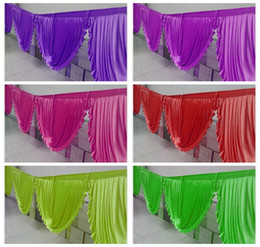 Wholesale Nice Looking Ice Silk Top Swag Drape Only Can Fit Table Skirt Backdrop Curtain And Other Wedding Decoration