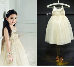Shine Wholesale Clothing Canada - High Quality sequined princess long gown for girls slip dress kids dress Summer Shining Party Dress Baby Clothing free shipping