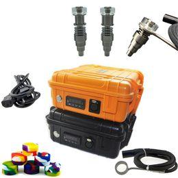 DHL бесплатно портативный электрический цифровой ногтей комплект с подходят плоские 10mm16mm20mm нагреватель катушки Ti / Qtz гибридный гвоздь для нефтяной вышки galss бонг