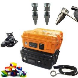 venda por atacado DHL livre Portátil Elétrica Digital Prego Kit com Fit flat 10mm16mm20mm coil aquecedor Ti / Qtz híbrido Prego para a sonda de petróleo galss bong