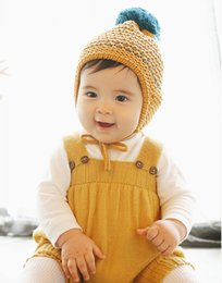 $enCountryForm.capitalKeyWord Canada - Baby Ear Muffs Wool Hat Pineapple Lines Pattern Hair Ball Cute Winter Warm Caps Fashion accessory Birthday Gifts DA007