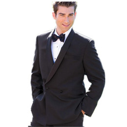 $enCountryForm.capitalKeyWord UK - New Arrival New Customized men suits for wedding Fashion Designer Lapel Black Formal Suits For Men suits men Groom Wear (Jacket+Pants)