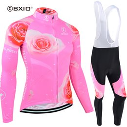 Clothes Long Cycle NZ - BXIO Brand Winter Fleece Cycling Jersey Set Long Sleeve Bike Clothing Autumn Breathable Anti Pilling Bicycle Clothing Ropa Ciclismo BX-121