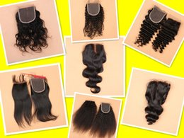 best virgin kinky curly hair 2019 - 8A Best Virgin Brazilian Closure Body Wave Brazilian Lace Closure Bleached Knots Closures Free 2 3Part Virgin Human Hair