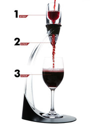 $enCountryForm.capitalKeyWord NZ - ECO Friendly Deluxe Wine Aerator Tower Set Red Wine Glass Accessories Quick Magic Decanter With Gift Box Crystal Acrylics Wholesale ZA1009