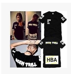 $enCountryForm.capitalKeyWord NZ - 2016 hiphop t shirts Men Hood By Air HBA Kanye West Edison tee short sleeve tops 100% cotton 4 color