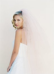 Tulle Head Bridal UK - 2016 New Top Quality Best Sale Fingertip short White Ivory Cut Edge Veil A layer of white pink With Comb Bridal Head Pieces