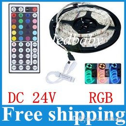 Rgb 44 key Remote contRol online shopping - Hot Sale RGB DC24V Led Strips Light Waterproof IP65 High Bright Leds SMD M W Keys IR Remote Control