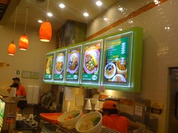 light box menu boards Canada - Led illuminated frame board slim light box menu