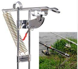 Vente en gros 2019 Vente Chaude De Haute Qualité Plus Forte Version Automatique Double Printemps Angle Pole Fish Rod Bracket Standard De Pêche Pole Holder