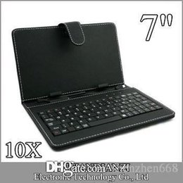China 10X OEM Leather Case with Micro USB Interface Keyboard for 7 inch MID Tablet PC A-JP suppliers
